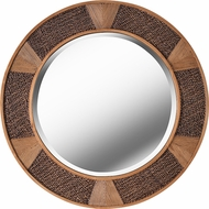 Kenroy Home 60570RAT Lagoon Contemporary Rattan Wall Mirror
