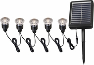 Kenroy Home 60613 Solar Deck, Dock and Path Light Black Solar Path Light