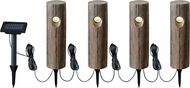 Kenroy Home 60634 Timber Rustic Wood Grain LED 4-Light Landscape Light