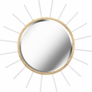 Kenroy Home 61021GLD Atticus Modern Gold Foil with Glass Rods Wall Mirror