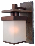 Kenroy Home 70281COP Boulder Small Copper Finish Natural Slate Outdoor Sconce