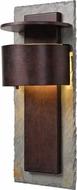 Kenroy Home 70286SL-LED Pembrooke Contemporary Natural Slate with Copper LED / Dark Sky Exterior 22.4  Lighting Sconce