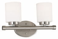 Kenroy Home 80402BS Mezzanine 2 Lamp Transitional Brushed Steel - 15 Inches Wide