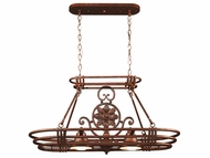Kenroy Home 90304GC Dorada Kitchen Island Light with Pot Rack