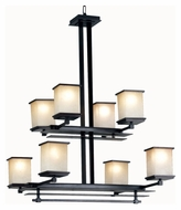 Kenroy Home 90384ORB Plateau Transitional Oil Rubbed Bronze 8 Lamp Chandelier Light