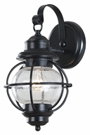 Kenroy Home 90961BL Hatteras Nautical Style Black Outdoor Wall Light