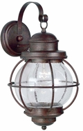 Kenroy Home 90963GC Hatteras Nautical Gilded Copper Outdoor Lighting Wall Sconce