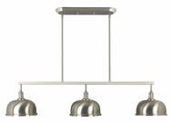 Kenroy Home 91617BS Alice 48 Inch Wide Brushed Steel Kitchen Island Light Fixture