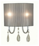 Kenroy Home 91730CH Arpeggio Transitional Style Chrome Finish Lighting Wall Sconce
