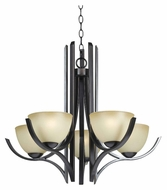 Kenroy Home 91955ORB Cypress Oil Rubbed Bronze 28 Inch Diameter Small Chandelier Lighting