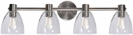Kenroy Home 92094BS Edis Contemporary Brushed Steel 4-Light Bath Lighting