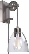 Kenroy Home 92098BS Edis Contemporary Brushed Steel Wall Light Sconce
