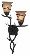Kenroy Home 92136BRZ Twigs 2-Lamp Rustic Wall Sconce