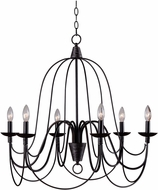 Kenroy Home 93066ORB Pannier Oil Rubbed Bronze with Silver Highlights Chandelier Lamp