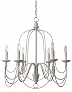 Kenroy Home 93066WH Pannier White Chandelier Light