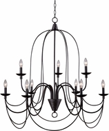 Kenroy Home 93069ORB Pannier Oil Rubbed Bronze with Silver Highlights Ceiling Chandelier