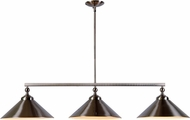 Kenroy Home 93247BS Conical Brushed Steel Kitchen Island Lighting