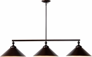 Kenroy Home 93247ORB Conical Oil Rubbed Bronze Kitchen Island Light