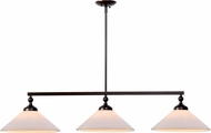 Kenroy Home 93248ORB Conical Oil Rubbed Bronze Kitchen Island Light Fixture