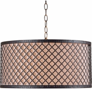 Kenroy Home 93312BRZ Hawthorn Oil Rubbed Bronze Drum Hanging Light Fixture