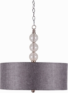 Kenroy Home 93313BS Maya Brushed Steel Drum Drop Lighting