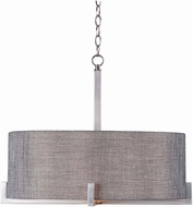 Kenroy Home 93325BS Wiley Modern Brushed Steel Drum Ceiling Light Pendant