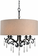 Kenroy Home 93368ORB Lucille Oil Rubbed Bronze Drum Pendant Lamp
