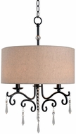 Kenroy Home 93369ORB Lucille Oil Rubbed Bronze Drum Hanging Lamp