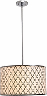 Kenroy Home 93373CH Tripoli Chrome Drum Pendant Lamp