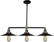 Kenroy Home 93377BL Ancestry Modern Black and Antique Bronze Island Light Fixture