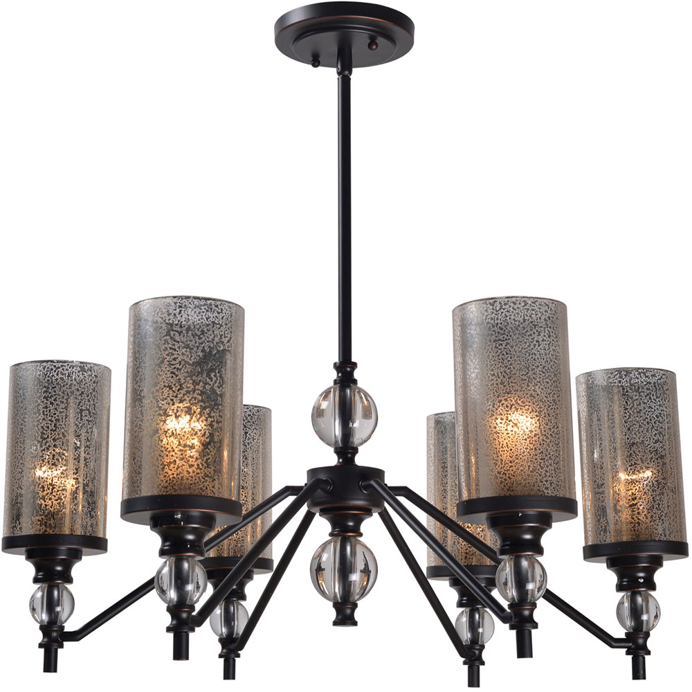 Kenroy Home 93446orb Chloe Modern Oil Rubbed Bronze Lighting Chandelier Loading Zoom