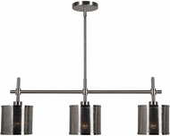 Kenroy Home 93459BS Mesha Contemporary Brushed Steel Kitchen Island Light
