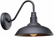 Kenroy Home 93506BL Dale Black Outdoor Wall Sconce Lighting