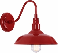 Kenroy Home 93506RED Dale Matte Red 15.938  Wall Sconce Lighting