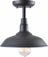 Kenroy Home 93508BL Dale Contemporary Black Outdoor Ceiling Light Fixture
