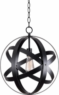Kenroy Home 93551BLK Global Black Pendant Light