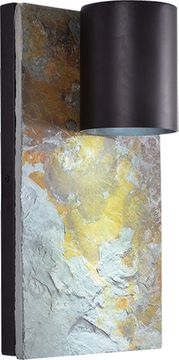 Kenroy Home 93582ORB Frederick Contemporary Oil Rubbed Bronze Outdoor 18.5 Wall Sconce Light