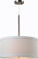 Kenroy Home 93622BS Paige Brushed Steel Drum Pendant Lighting Fixture