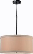 Kenroy Home 93622ORB Paige Oil Rubbed Bronze Drum Hanging Pendant Lighting
