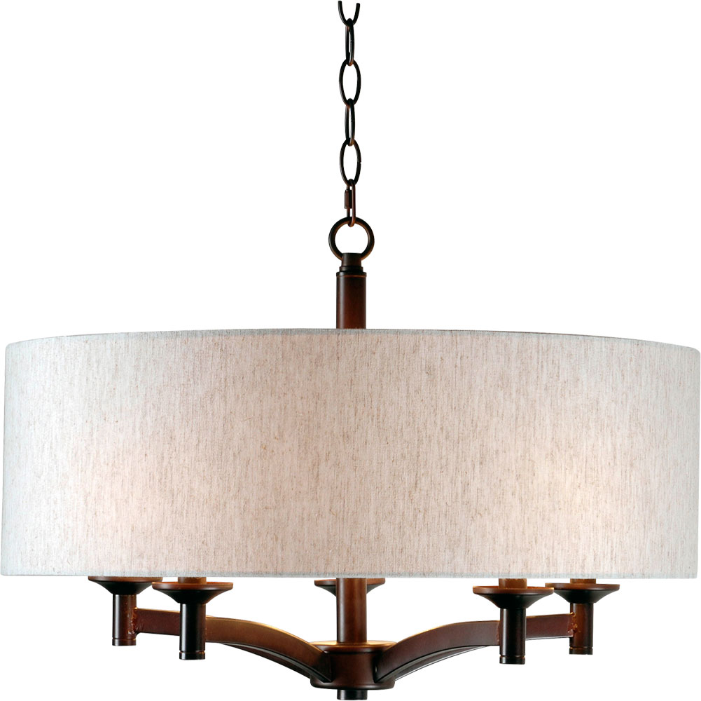 Kenroy Home Lighting Keen Bronze Pendant Light With Drum: Kenroy Home 93637ORB Rutherford Oil Rubbed Bronze Drum