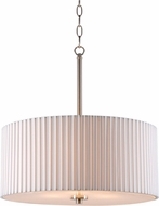 Kenroy Home 93646BS Grace Brushed Steel Drum Hanging Light Fixture
