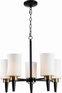 Kenroy Home 93775ORB Sam Oil Rubbed Bronze with AB Cup Mini Chandelier Light