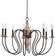 Kenroy Home 93848WW Lisbeth Weathered White with Gold Highlights Ceiling Chandelier