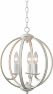 Kenroy Home 93923WH Opal Weathered White with Gold Drop Ceiling Lighting