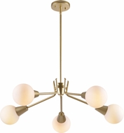 Kenroy Home 93955GLD Vaughn Contemporary Painted Gold LED Chandelier Lighting