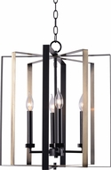 Kenroy Home 94024BL Mario Contemporary Matte Black and Antique Brass Pendant Light