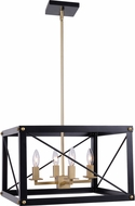 Kenroy Home 94034BL Courtney Modern Black and Gold Pendant Lamp