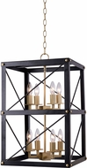 Kenroy Home 94038BL Courtney Contemporary Black and Gold Foyer Light Fixture