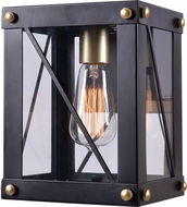 Kenroy Home 94040BL Courtney Contemporary Black and Gold Light Sconce