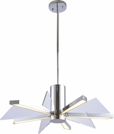 Kenroy Home 94100CH Laney Contemporary Chrome LED Lighting Chandelier